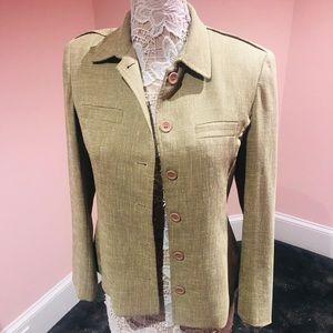 Jena tweed linen jacket